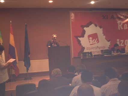 Luches en Trubia en la XI Asamblea de IU Extremadura