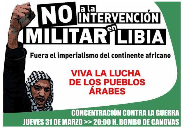 NO a la GUERRA en Libia
