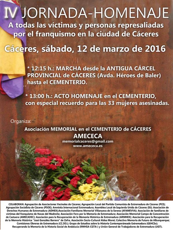 Cartel IV Jornada-Homenaje AMECECA